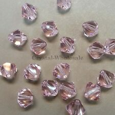 5mm Rosaline (508) Genuine Swarovski crystal 5328 / 5301 Loose Bicone Beads