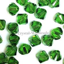 6mm Fern Green (291) Genuine Swarovski crystal 5328 / 5301 Loose Bicone Beads
