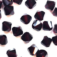 6mm Garnet (241) Genuine Swarovski crystal 5328 / 5301 Loose Bicone Beads