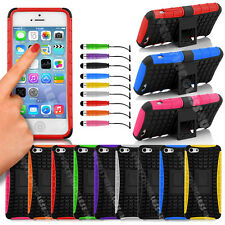 HEAVY DUTY SHOCK PROOF BUILDERS HARD CASE COVER WITH STAND FOR PHONES / TABLETS