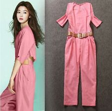 2014 new arrival Europe and America fashion Elegant linen detachable jumpsuits