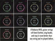 D'Addario NYXL Nickel Wound Electric Guitar Strings with a choice of 6 gauges