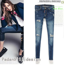 New DSQUARED2 Womens Were thin Hole Pencil Pants Feet Pants Jeans