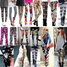 Summer Women Lady Beauty Colorful Comfort Pattern Print Leggings 13 Styles