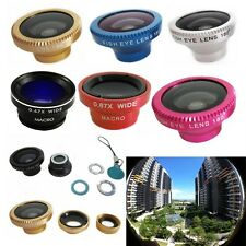 Camera Fisheye+Lens Wide+Angle Macro Lens Case For All Mobile Phone 3-in-1