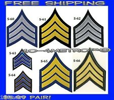 Pair of Security or Police Seargent Rank Chevron Patches