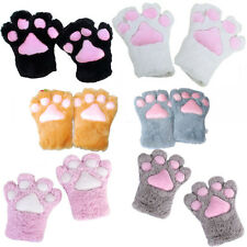5 Colors Plush Cat Kitten Paw Claw Gloves Anime Cosplay Halloween Party Costume