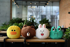 SNS LINE FRIENDS Characters Face Plush Pillow Cushion Official MD Kpop (6Types)