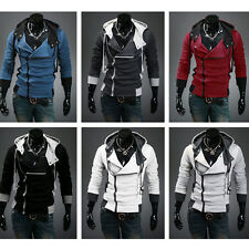 Hot! Mens Fashion Fit Slim Hooded Casual Designed Cardigan Coat Jacket Hoodies