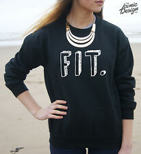 * Fit Sewater Jumper Top Fashion Tumblr Gym Girl Dope Swag Slogan Guy *