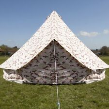 Camo Bell Tent With Zipped in Ground Sheet