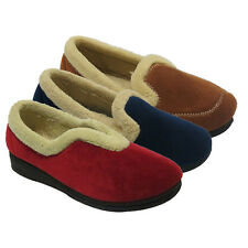 Ladies Fur Lined Mules Flat Slip On Warm Luxury Womens Shoes Slippers Size Uk