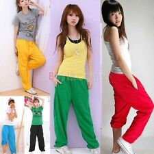 Fashion Women's Candy Colors Drawstring Sweatpants Sports Harem Pants Trousers