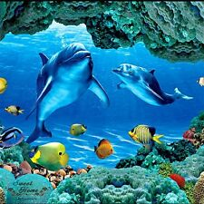 Underwater Sea World Dolphin Full Wall Mural Print Decal Wallpaper Home Decor