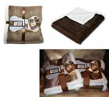 Dog Blanket Sherpa Fleece-Animal Planet-Brown Beige-Pet Couch Seat Crate Cover