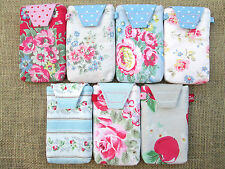 IPhone 4 S  Cover Case Sock Pouch ✂ Handcrafted Cath Kidston Cotton Duck Fabric