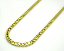 """20-24"""" Inch 1.5mm 14k Yellow Solid Real Gold Franco Box Chain Necklace Ladies"""