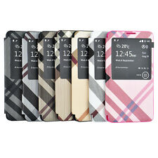 Stylish S-View Gross Flip Leather Battery Cover For Samsung Galaxy Note 3 N9000