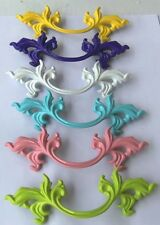 """Drawer Pull French Provincial 10 COLORS 3"""" Centers 5-3/4"""" Overall Length"""