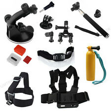 For GoPro Hero 3+ 2 1 Monopod Floaty Backdoor Head Chest Helmet Strap Grip Mount