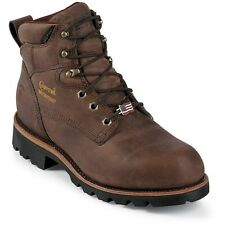 "Chippewa Men's 6"" Bay Crazy Horse Waterproof Rugged Brown Boot 25203"