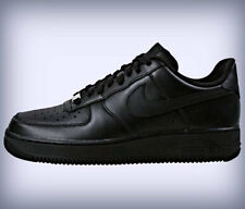 NIKE AIR FORCE 1 '07 MENS 315122-001 ALL BLACK LOW SNEAKERS