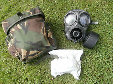 British Army S10 Gas Mask Set Complete With Haversack + Filters DPM Military NBC