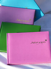 AUTOGRAPH BOOK-COLOURED PAGES- SCHOOL LEAVERS BOOK-TEACHER GIFT IDEA