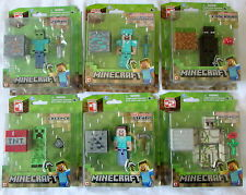 "Minecraft 3"" Figures Overworld Series 1 and 2"