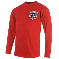 ENGLAND 1966 WORLD CUP WINNERS' AWAY RED L/S SOCCER FOOTBALL SHIRT JERSEY MOORE