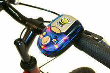 BATTERY CYCLE HOOTER BLUE MULTI SOUND WITH LED LIGHT ELECTRIC BIKE/SCOOTER HORN