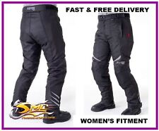 Ladies Viper Maddison Waterproof Windproof Black Motorcycle Motorbike Trousers
