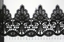 11CM Vintage lace trim ,Black Lace ribbon,white sewing lace trim