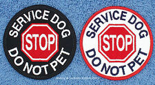 SERVICE DOG STOP DO NOT PET PATCH 3in Danny & LuAnns Embroidery  assistance