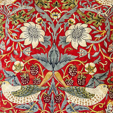 William Morris Strawberry Thief Crimson Ready Made Lined Curtains Le Chateau