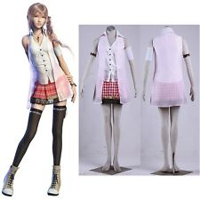 New Final Fantasy XIII FF 13 Serah Farron Clothings Cosplay Costume Anime Party