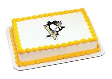 NHL Pittsburgh Penguins ~ Frosting Sheet Cake Topper ~ Edible Image ~ D795