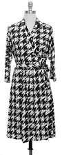Women's Houndstooth Faux Wrap Dress