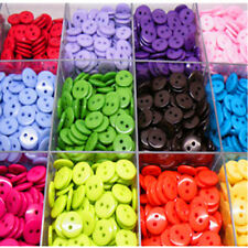 100/200X RESIN BUTTONS MIXED COLOURS CRAFT SCRAPBOOK SEWING Colourful 2 Hole 8mm
