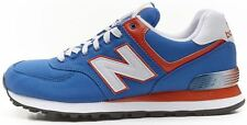 New Balance classic retro running ML 574 APB trainers blue&orange
