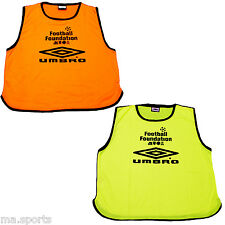 5 X NEW UMBRO OFFICIAL SPORTS RUGBY FOOTBALL FOUNDATION ADULT TRAINING BIBS