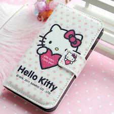 Lovely Hello Kitty Leather Wallet Pouch Case Cover For Samsung Galaxy S2 i9100
