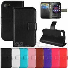 PU Leather Flip Wallet Case Credit Card Holder Pouch Cover For Blackberry Q10