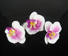 6Pcs Fabric Orchid Flower Bridal Wedding Hair Pin Hair Clip SP-130