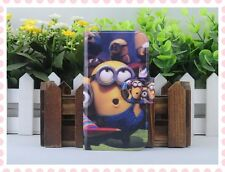 Hot lovely Colourful Funny Despicable me PU LEATHER FLIP Case COVER for Samsung