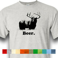 BEER Bear Deer Hunting Gun Grizzly Alcohol Drinking Shirt