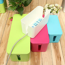 Cable Storage Box Case Wire Management Socket Safety Tidy Organizer Solution