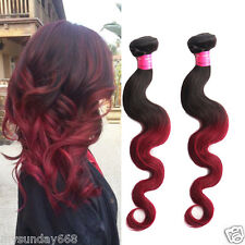 "50g/Bundles Ombre Human Hair Extension 10""-30"" Body wave hair Weave Weft Hot sel"