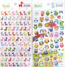 Petit World Petit Sticker Nara Scrapbooking Sticker Sheet (Giraffe OR Owl)
