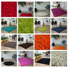 Thick Plain Quality Soft Shaggy Rugs Non Shed Deep Pile Small X Large Cheap Mats